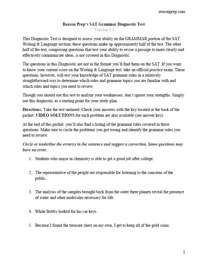 grammar essay test Essay - requires answers to be written out at some length the student functions as the source of it tests your knowledge and understanding of the subject and your skill in reading and writing.
